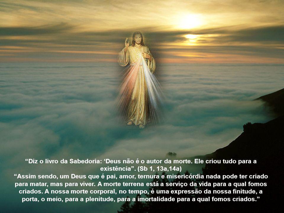 Diz o livro da Sabedoria: 'Deus não é o autor da morte