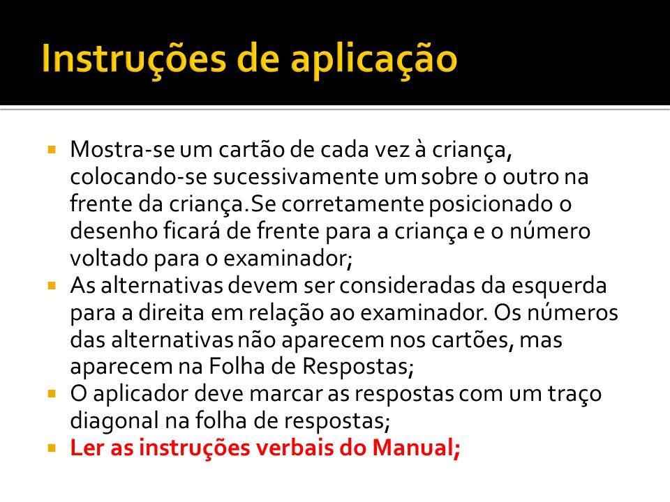 Instruções de aplicação