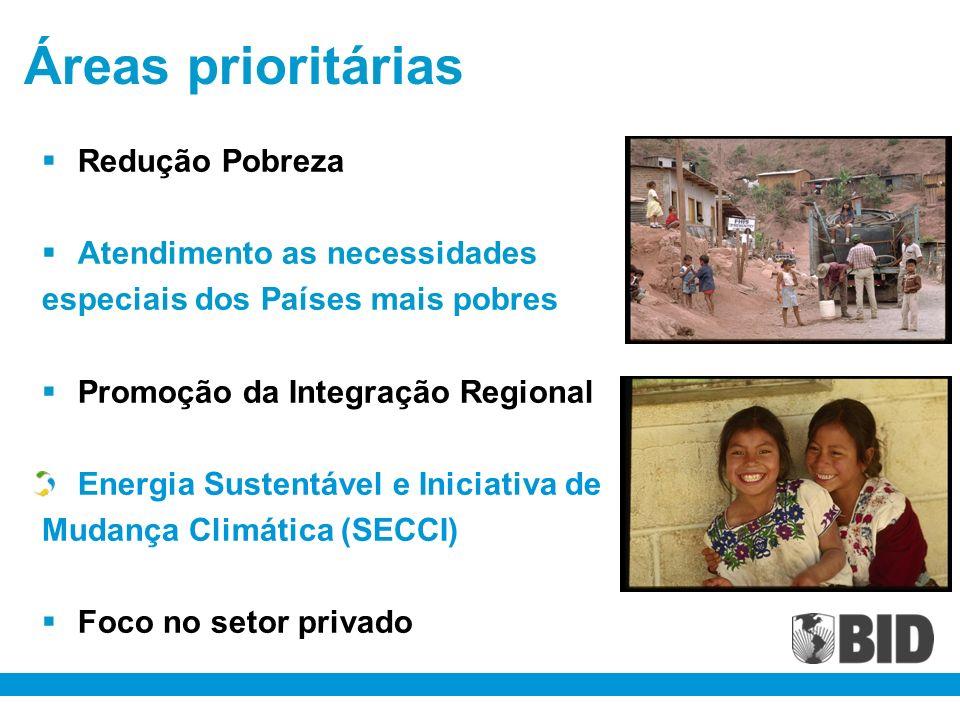 Áreas prioritárias Redução Pobreza Atendimento as necessidades