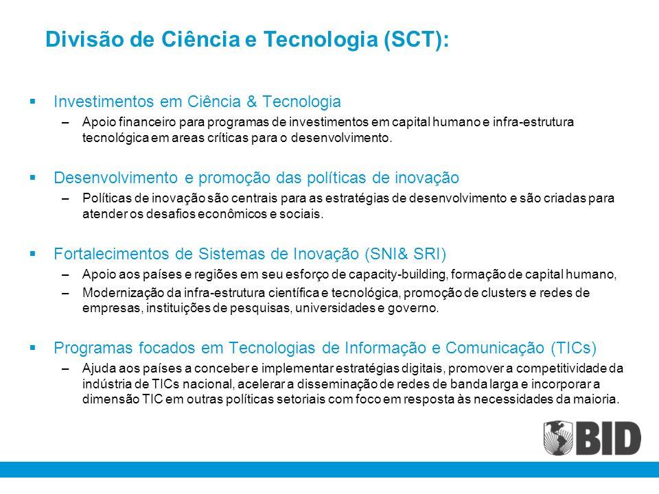 Divisão de Ciência e Tecnologia (SCT):