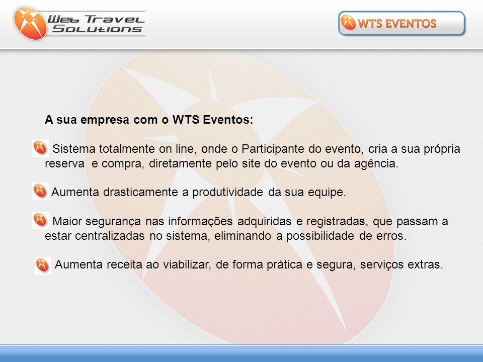A sua empresa com o WTS Eventos: