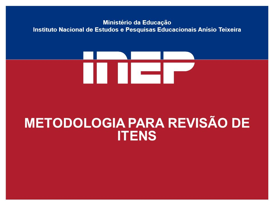 METODOLOGIA PARA REVISÃO DE ITENS