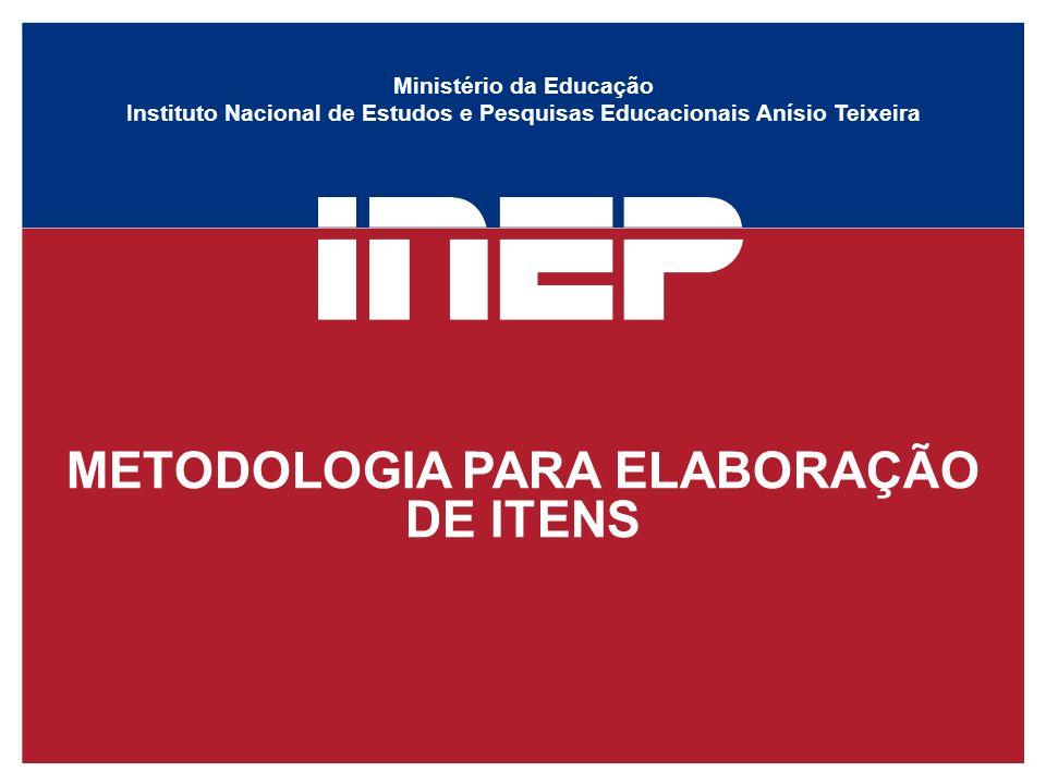 METODOLOGIA PARA ELABORAÇÃO DE ITENS