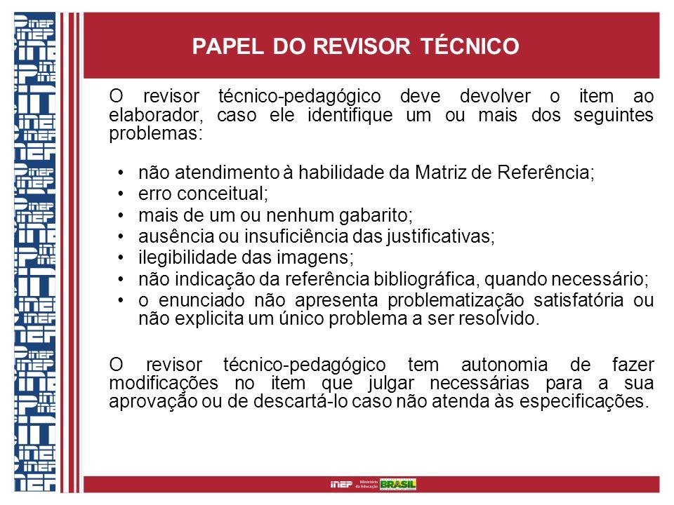 PAPEL DO REVISOR TÉCNICO