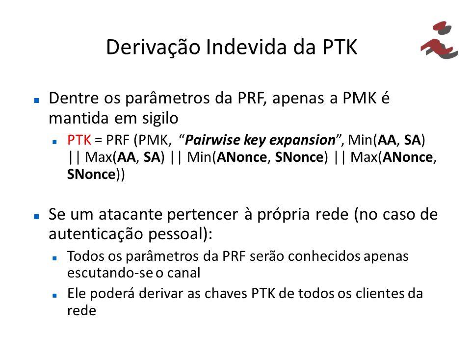 Derivação Indevida da PTK