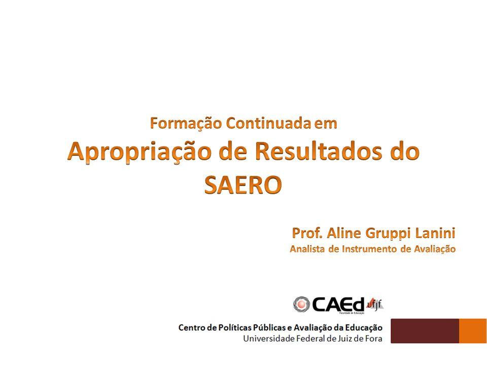 Formação Continuada em Apropriação de Resultados do SAERO