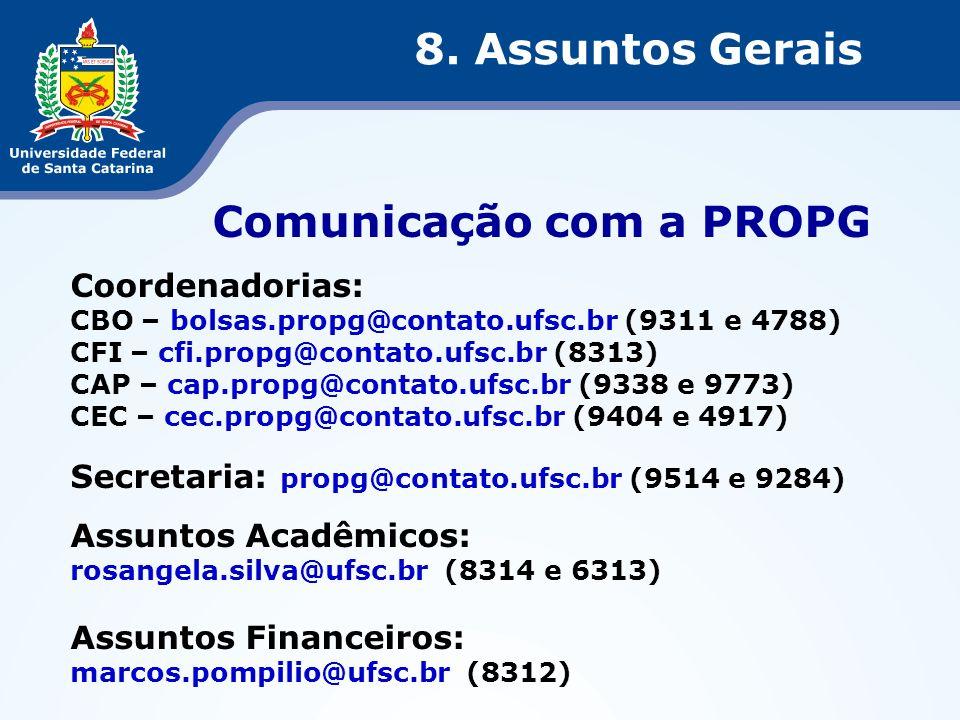 Comunicação com a PROPG