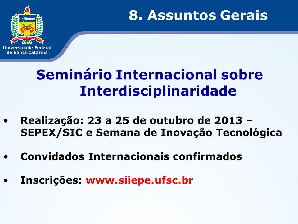 Seminário Internacional sobre Interdisciplinaridade