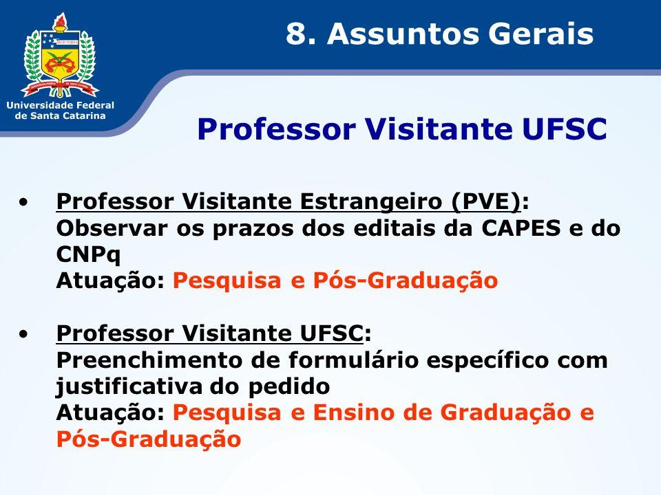 Professor Visitante UFSC