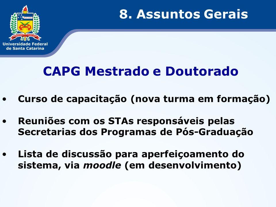 CAPG Mestrado e Doutorado