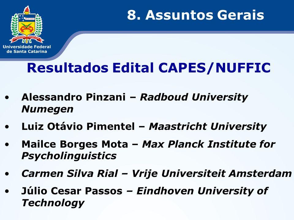 Resultados Edital CAPES/NUFFIC