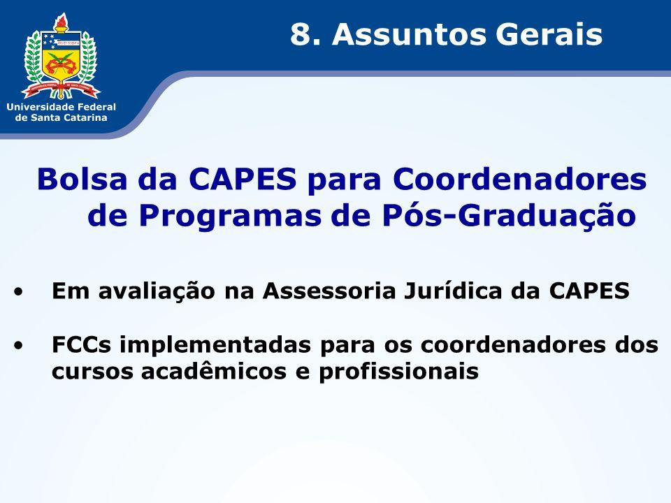 Bolsa da CAPES para Coordenadores de Programas de Pós-Graduação