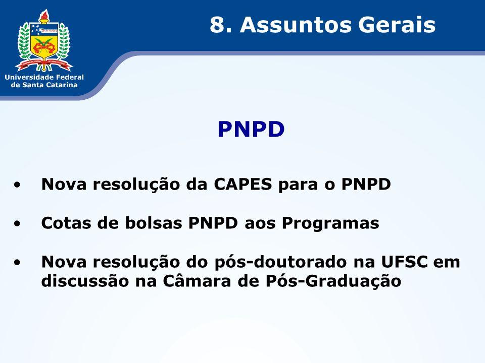 8. Assuntos Gerais PNPD Nova resolução da CAPES para o PNPD