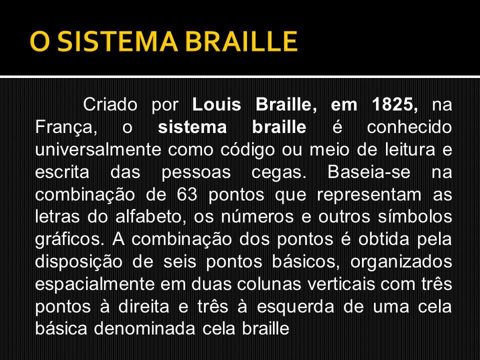 O SISTEMA BRAILLE