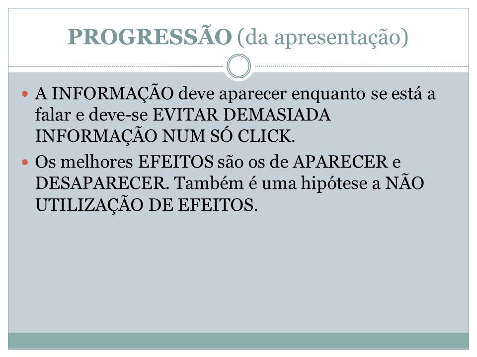 PROGRESSÃO (da apresentação)