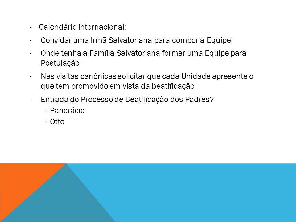 Calendário internacional;