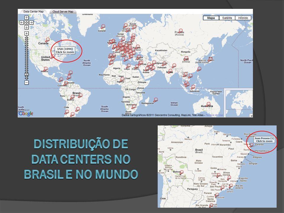 DISTRIBUIÇÃO DE DATA CENTERS NO BRASIL E NO MUNDO