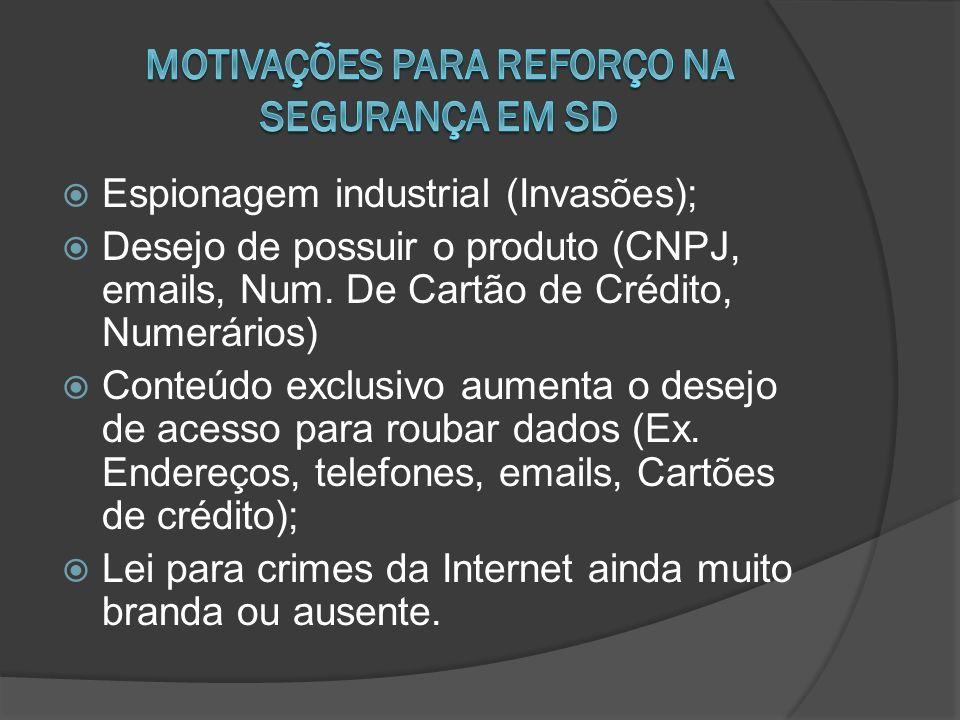 Motivações para reforço na segurança em SD