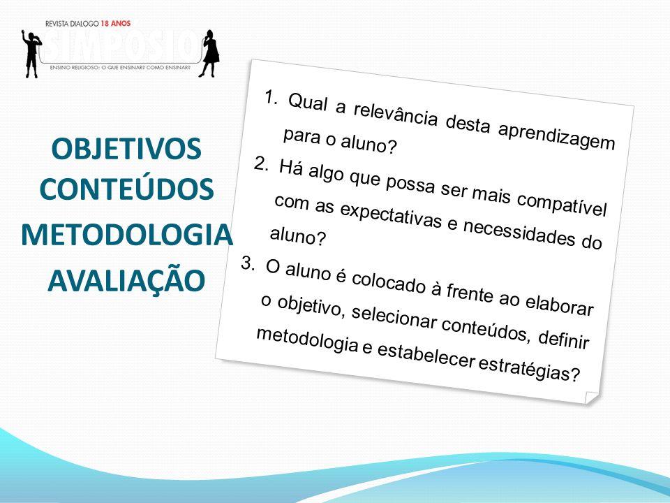 OBJETIVOS CONTEÚDOS METODOLOGIA AVALIAÇÃO