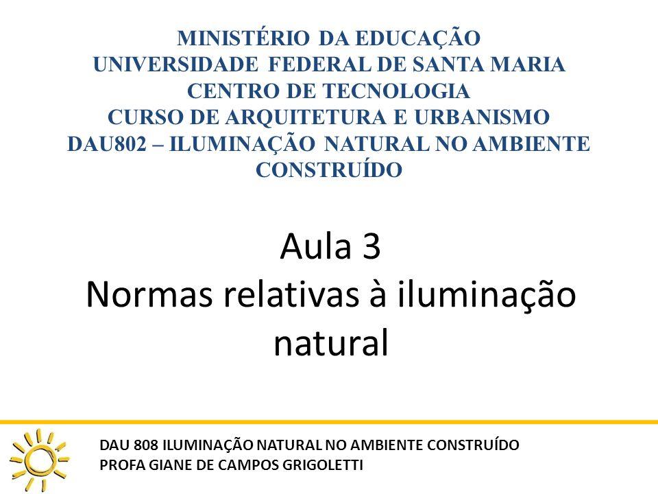 Aula 3 Normas relativas à iluminação natural