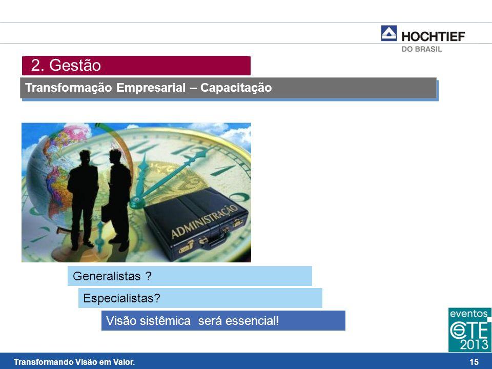 2. Gestão Transformação Empresarial – Capacitação Generalistas
