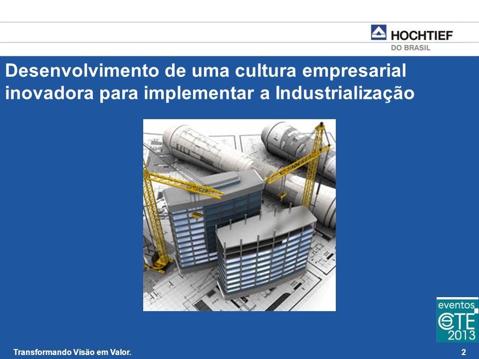 Desenvolvimento de uma cultura empresarial inovadora para implementar a Industrialização