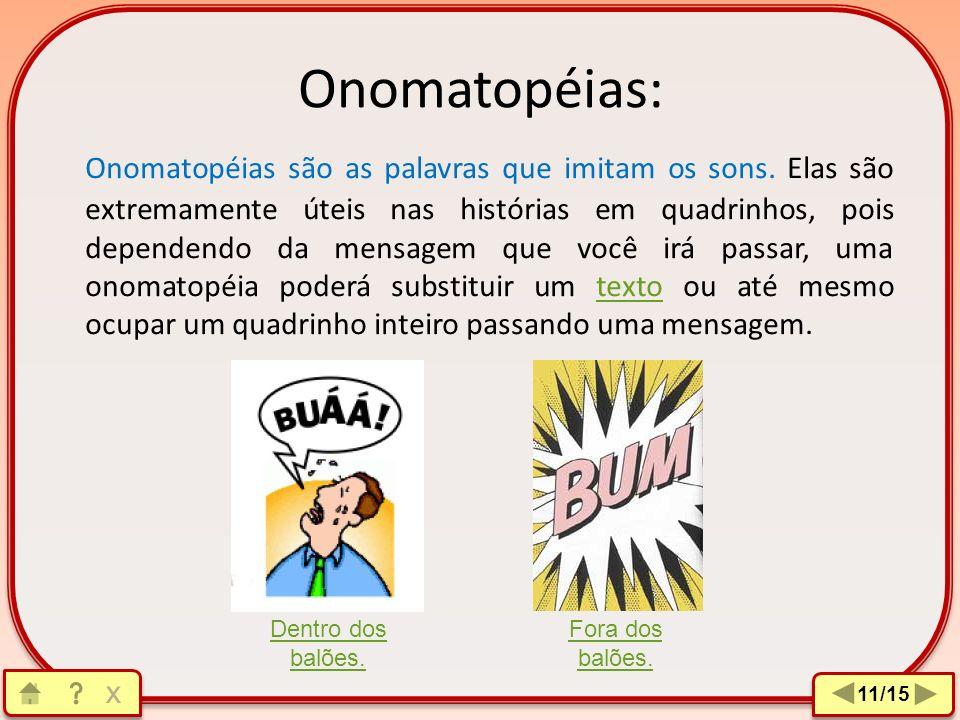 Onomatopéias:
