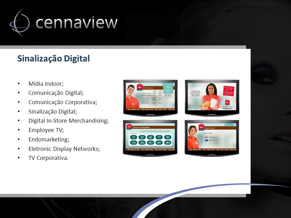 Sinalização Digital Mídia Indoor; Comunicação Digital;