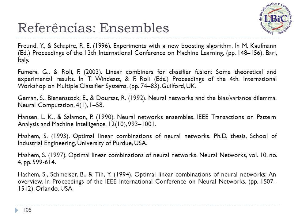 Referências: Ensembles