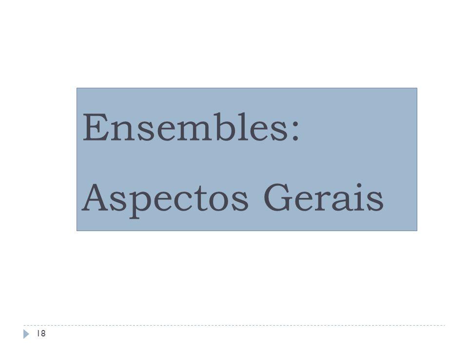 Ensembles: Aspectos Gerais