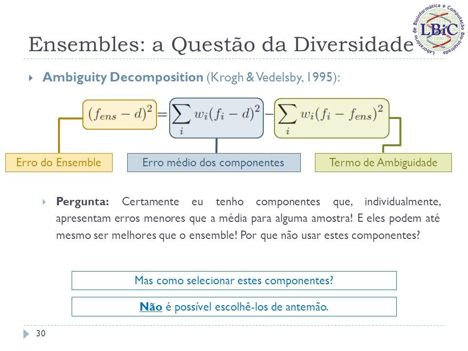 Ensembles: a Questão da Diversidade