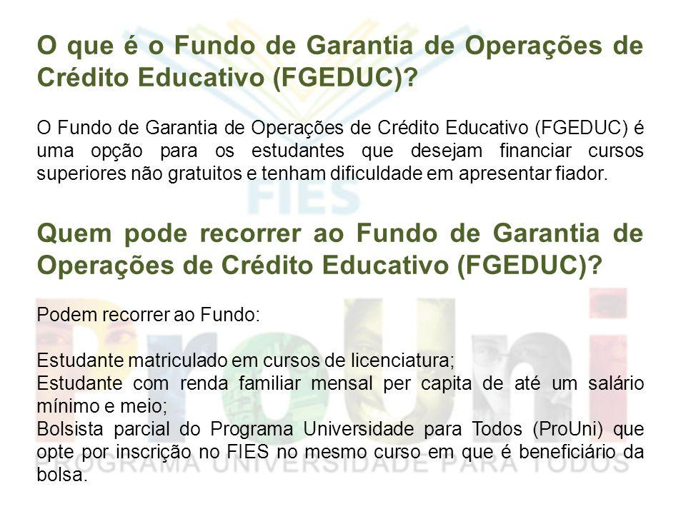 O que é o Fundo de Garantia de Operações de Crédito Educativo (FGEDUC)