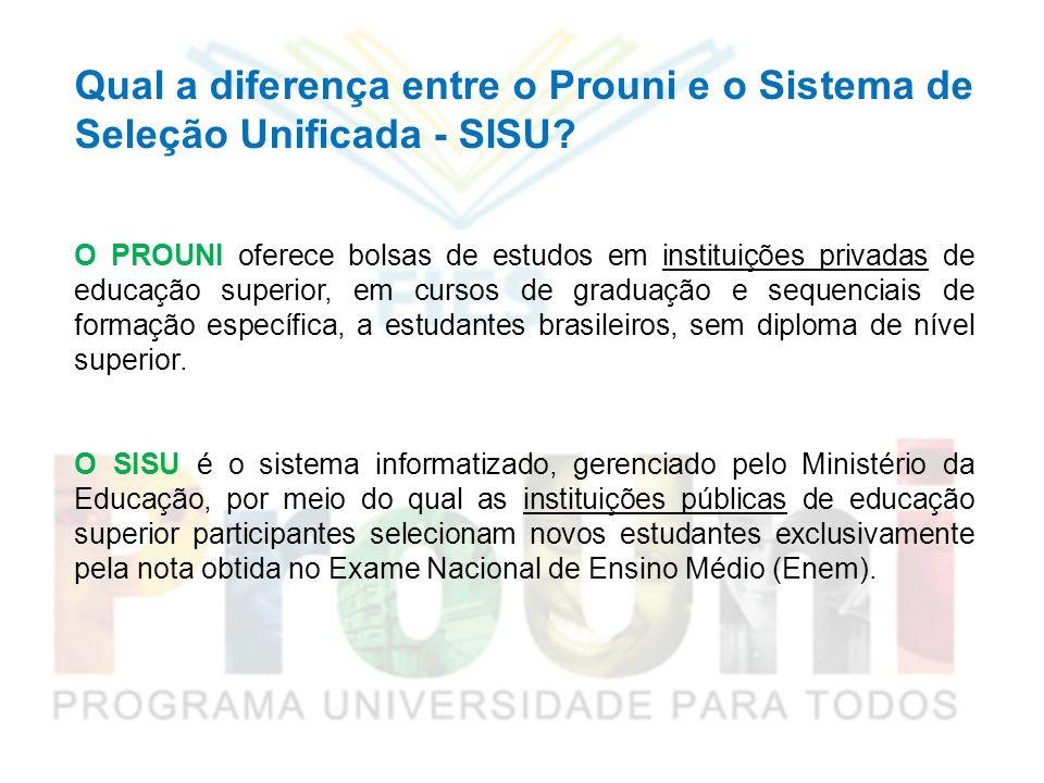 Qual a diferença entre o Prouni e o Sistema de Seleção Unificada - SISU