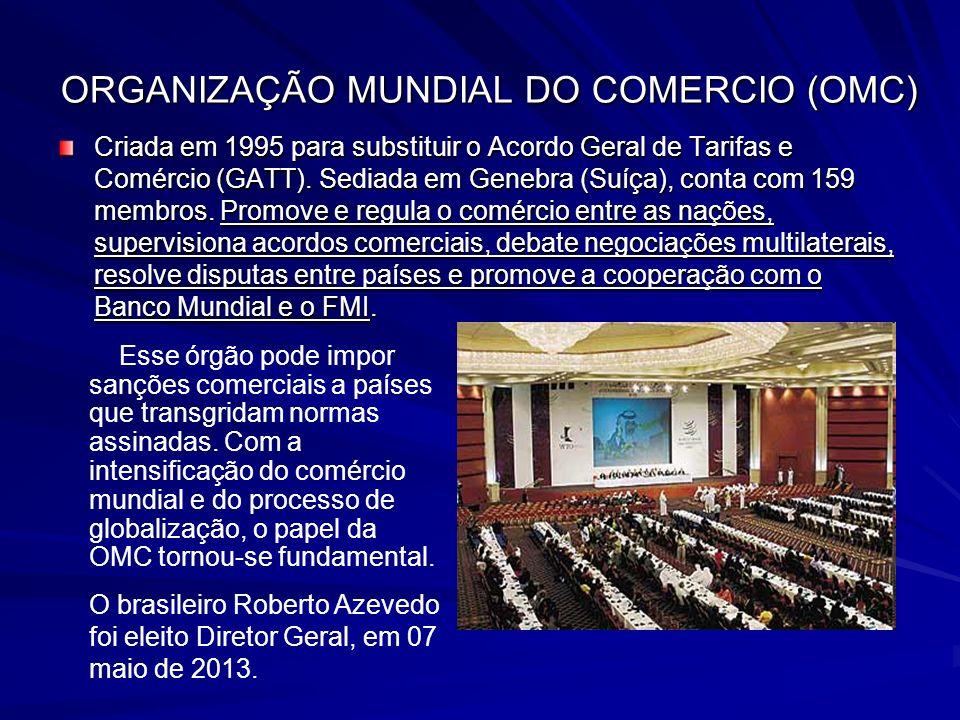ORGANIZAÇÃO MUNDIAL DO COMERCIO (OMC)