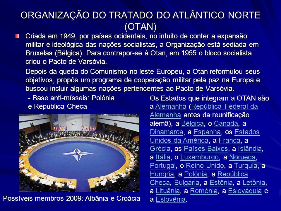 ORGANIZAÇÃO DO TRATADO DO ATLÂNTICO NORTE (OTAN)
