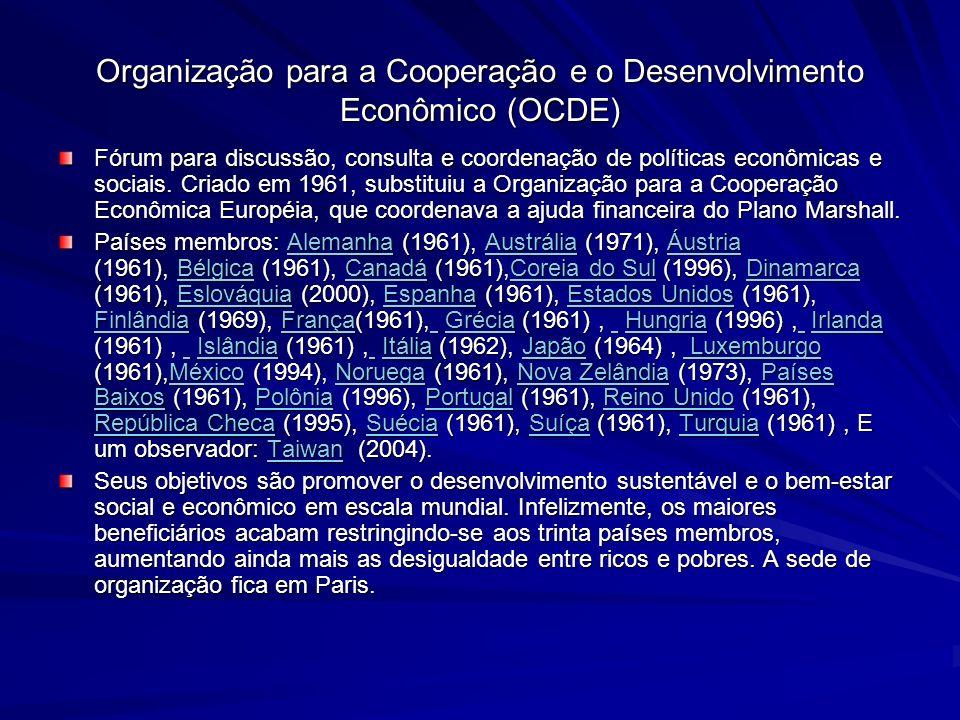 Organização para a Cooperação e o Desenvolvimento Econômico (OCDE)