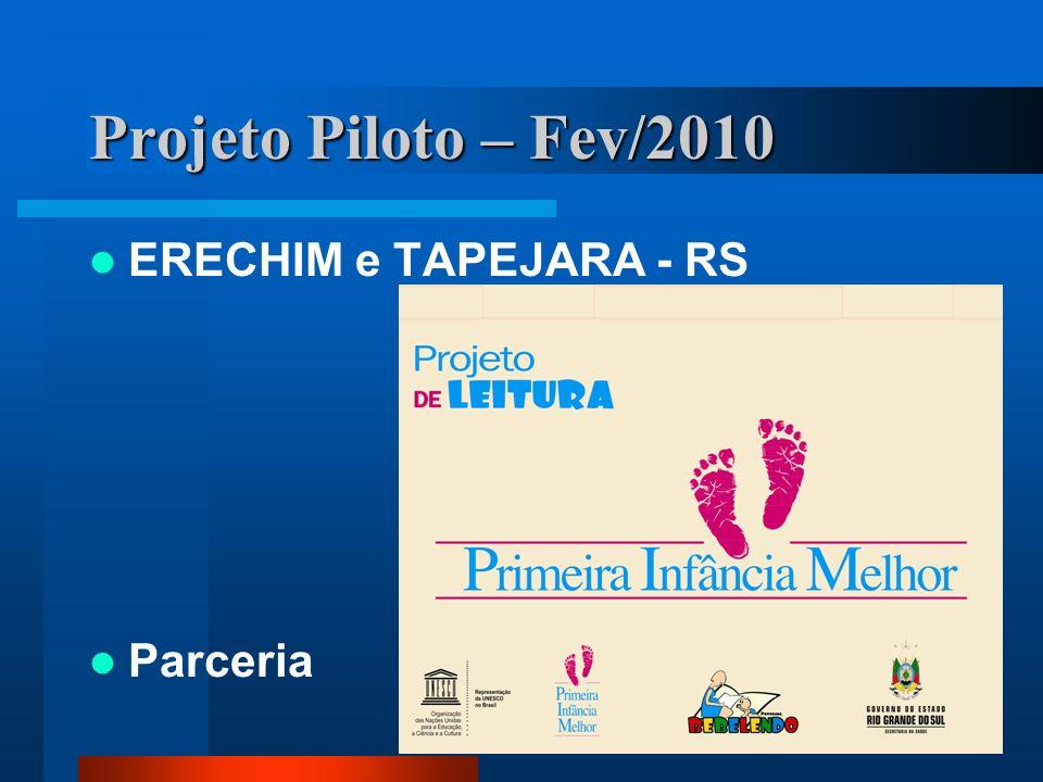Projeto Piloto – Fev/2010 ERECHIM e TAPEJARA - RS Parceria