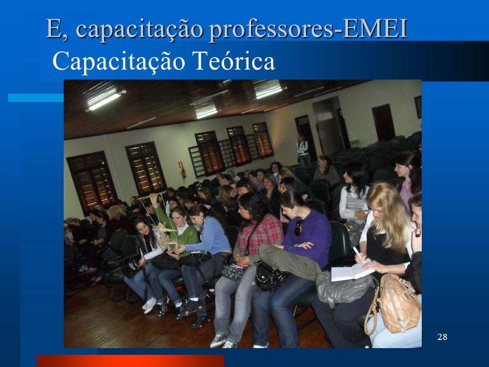 E, capacitação professores-EMEI Capacitação Teórica