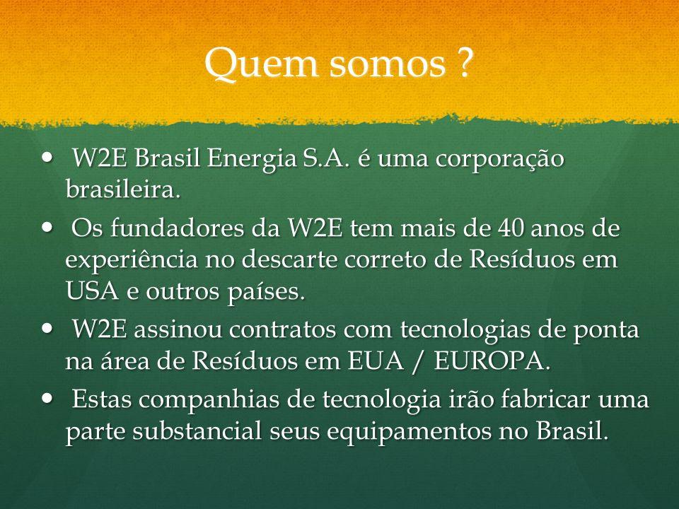 Quem somos W2E Brasil Energia S.A. é uma corporação brasileira.