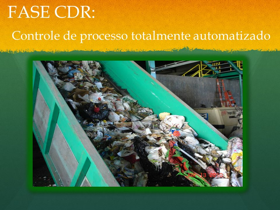 FASE CDR: Controle de processo totalmente automatizado