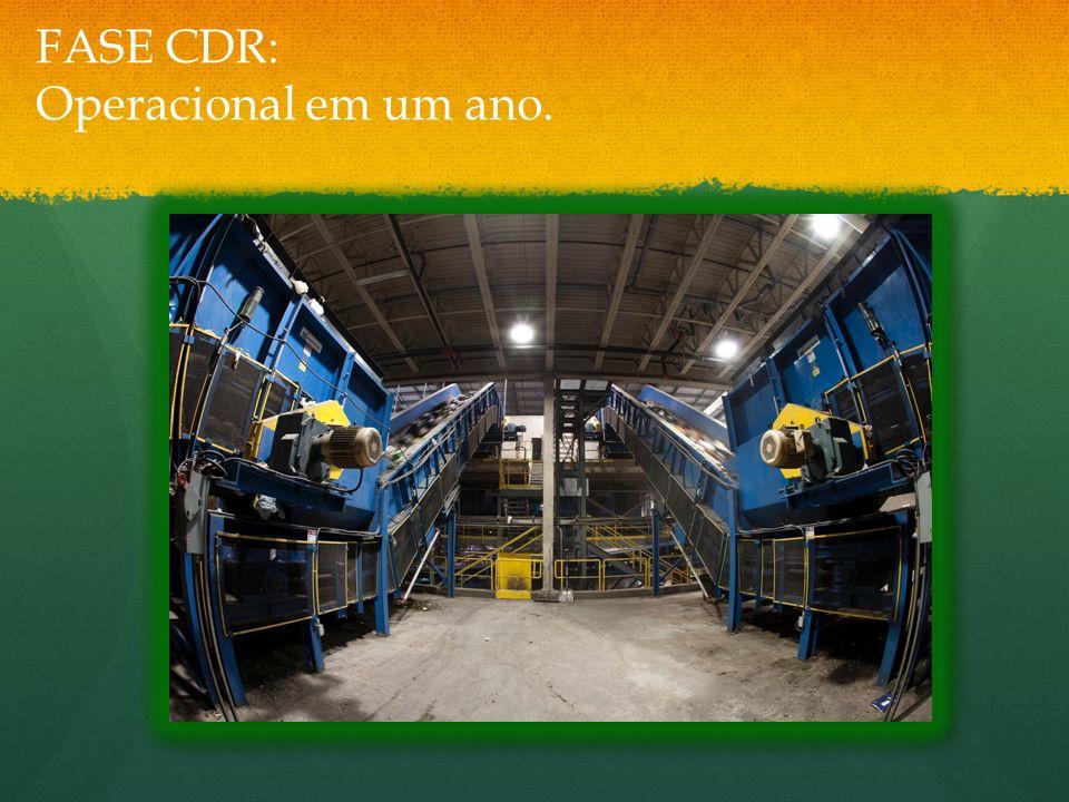 FASE CDR: Operacional em um ano.