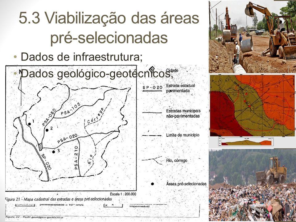 5.3 Viabilização das áreas pré-selecionadas
