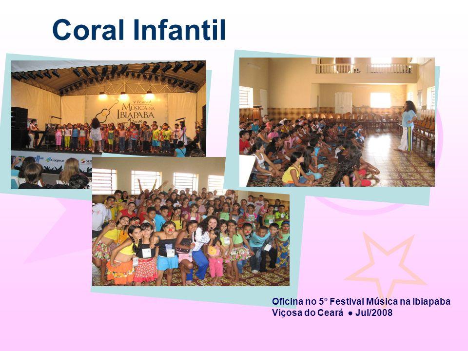 Coral Infantil Oficina no 5º Festival Música na Ibiapaba