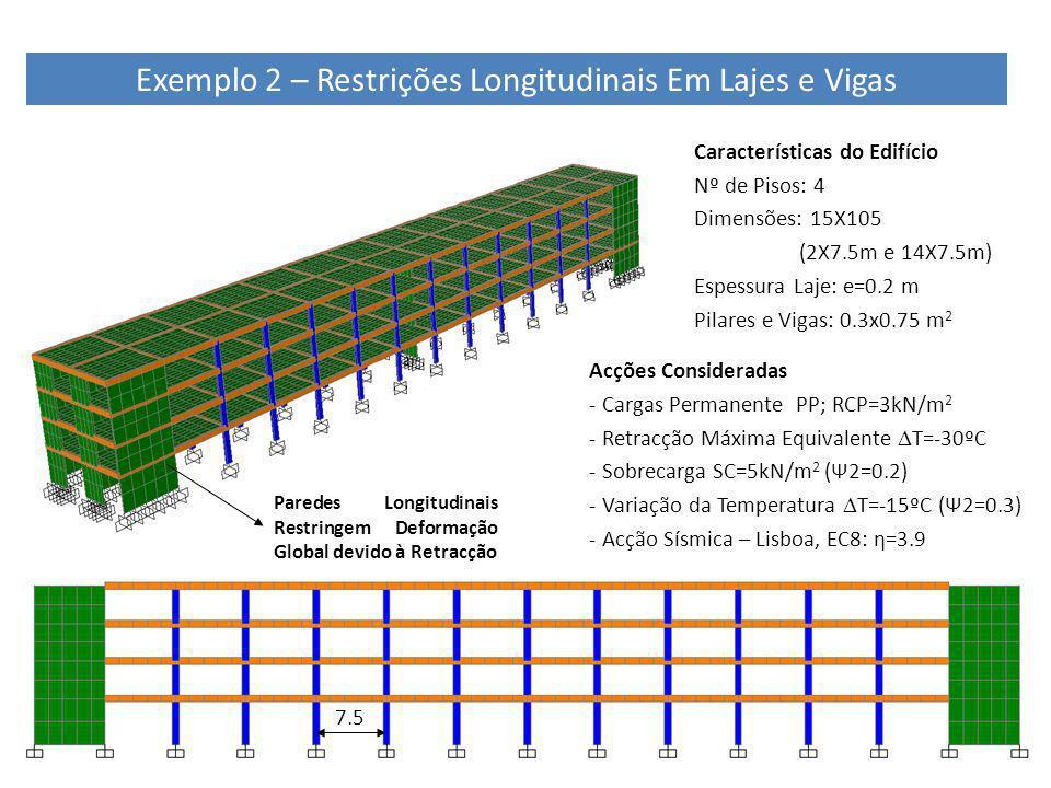 Exemplo 2 – Restrições Longitudinais Em Lajes e Vigas
