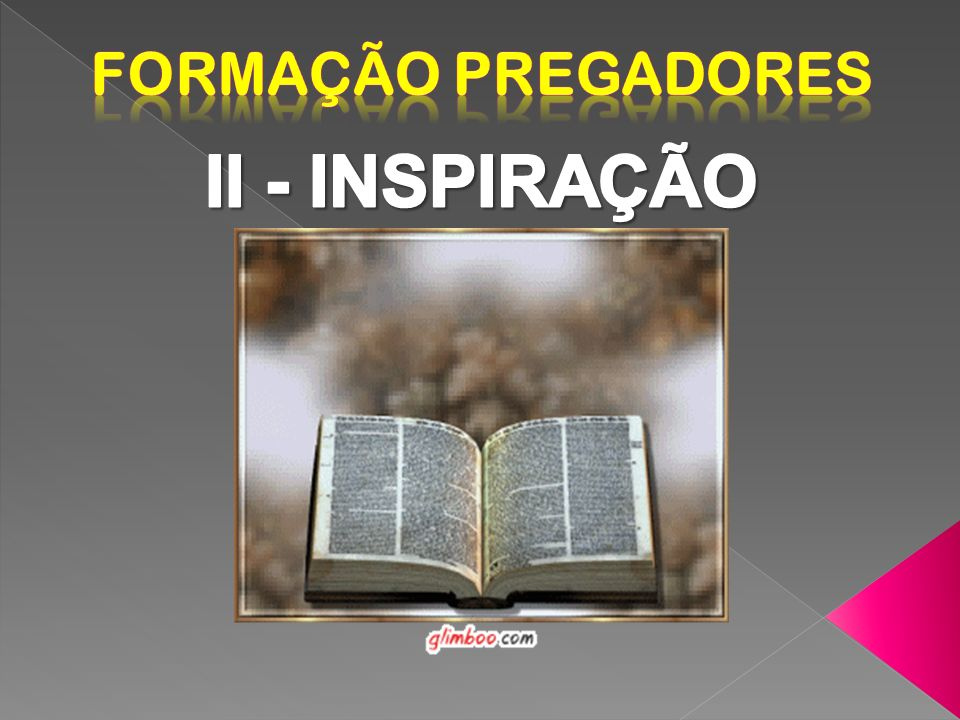 Formação Pregadores II - INSPIRAÇÃO