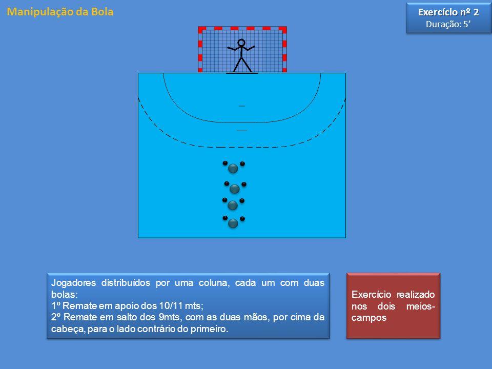 Manipulação da Bola Exercício nº 2 Duração: 5'