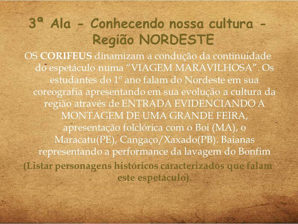 3ª Ala - Conhecendo nossa cultura - Região NORDESTE.