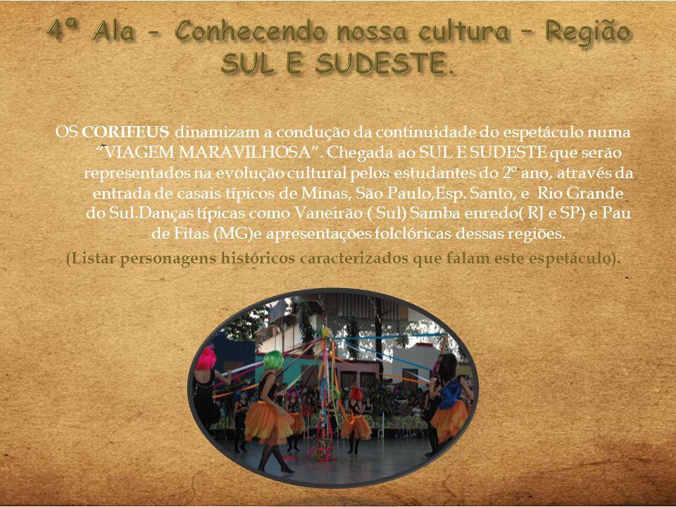 4ª Ala - Conhecendo nossa cultura – Região SUL E SUDESTE.