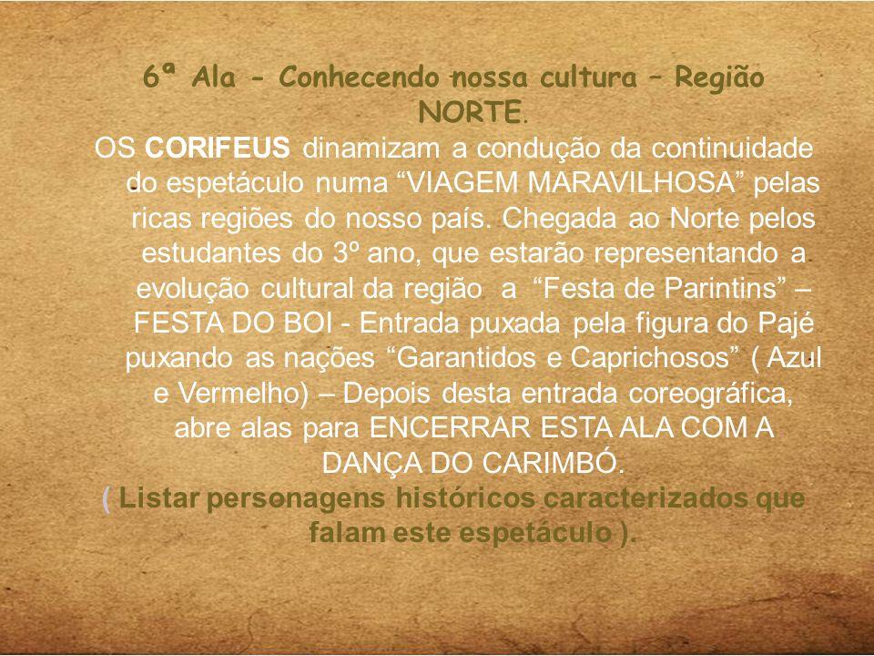 5ª Ala - Conhecendo nossa cultura – Região NORTE.