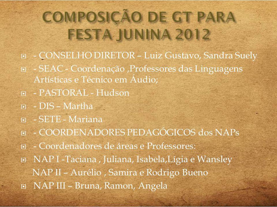COMPOSIÇÃO DE GT PARA FESTA JUNINA 2012